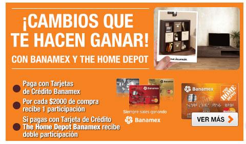 Tarjeta credito banamex home depot prestamos walmart neuquen for Home depot sucursales